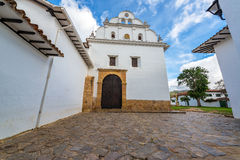 Church and Convent of San Francisco. In Villa de Leyva, Colombia Royalty Free Stock Images