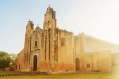Church and Convent of San Miguel in Mani, Mexico Royalty Free Stock Photo