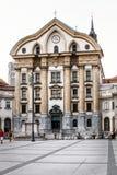 Church, convent of Ursuline. Ljubljana, Slovenia. Royalty Free Stock Image