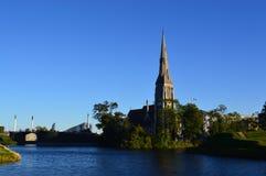 Church in Copenhagen stock image