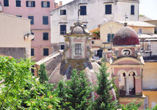 Church in Corfu, Greece. View from the bell tower of the church in Corfu, Greece Stock Images