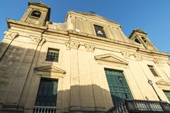 Church in Corleone in Sicily, Italy. Facade of a church in the old town of Corleone, a town known for associating with the mafia in Sicily, Italy Stock Photos