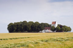 Church in the Corn Field Royalty Free Stock Photos