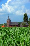 Church in corn field 2. royalty free stock photos
