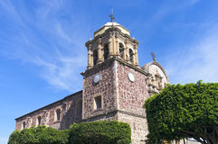 Church Corner in Tequila Mexico stock photos