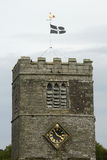 Church with Cornish Flag flying. England Stock Image