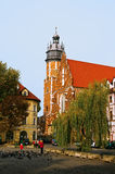 Church of Corpus Christi. View of the square and the church of Corpus Christi in Krakow Stock Photo