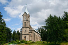 Church of the Corpus Christi. Szklarska Poreba, Poland - August 8, 2012: Church of the Corpus Christi built in the years 1884-86 in  Romanesque style Royalty Free Stock Image