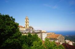 Church in corsica mountain Stock Image