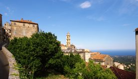 Church in corsica mountain Stock Images