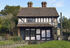 Church Cottage, Dunster Stock Photo