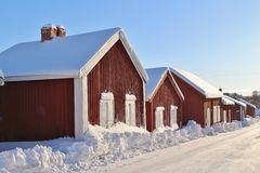 Church cottages in Gammelstad Church Town Stock Photo