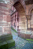 Church courtyard of Basel Minster Royalty Free Stock Photography
