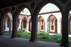 Church courtyard of Basel Minster Stock Image