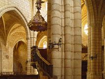 The church of Covarrubias, Burgos, Spain Stock Images