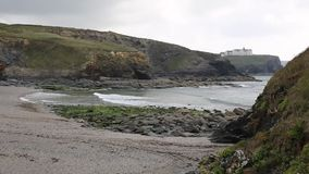 Church Cove near Gunwalloe Cornwall England UK on the Lizard Peninsula south of Helston and between Porthleven and Mullion stock video
