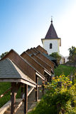 Church and covered staircase Royalty Free Stock Photo