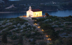 Church in Croatian town Murter Stock Photography