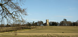 The Church at Croome Park Stock Image