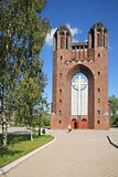 Church of Cross. Place to the Russian city Kaliningrad Royalty Free Stock Photography