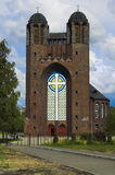 Church of cross. Place to the Russian city Kaliningrad Royalty Free Stock Photos