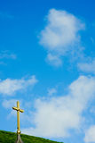 Church cross against the sky Stock Images