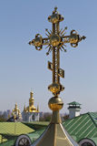 Church cross against the sky Stock Image