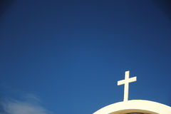 Free Church Cross Against The Sky Stock Images - 68264824