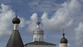 Church cross clouds stock video footage