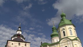 Church cross clouds stock footage