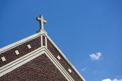 Church Cross Exterior. A architectural photograph of a church cross stock photography