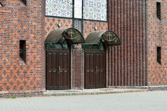 Church of the Cross, main entrance. Kaliningrad (until 1946 Koen Stock Photo