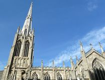 Church cross and spires Stock Image