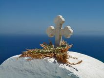 A church Crosse. In the Aegean Stock Photography