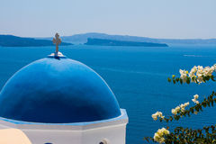 Church Cupol in Santorini, Greece Royalty Free Stock Photography