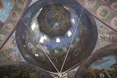 Cupola. A church cupola with paintings from Sfanta treime church Royalty Free Stock Images
