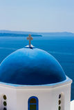 Church Cupola in Santorini, Greece Stock Photography