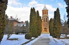 Church at curtea de arges stock photo