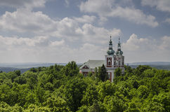 Church on Cvilin hill near Krnov, Czech republic Stock Photos