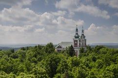Church on Cvilin hill near Krnov, Czech republic Stock Photos