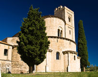 Church and cypresses Royalty Free Stock Photo