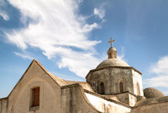 Church in Cyprus. A church with a blue sky (North Cyprus Stock Image