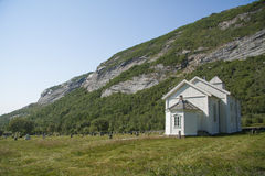 Church on Dønna island Northern Norway Stock Images