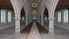 Church. 3D CG rendering of a church Stock Photos