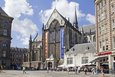 Church on Dam square in Amsterdam Stock Photo