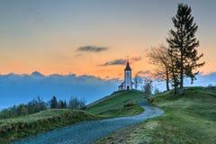 Church at dawn Stock Images