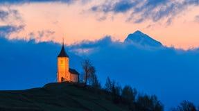Church at dawn Royalty Free Stock Photo