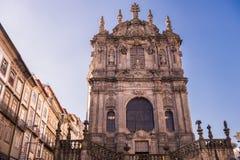 Church de Los Clerigos, Oporto, Portogallo Immagine Stock Libera da Diritti