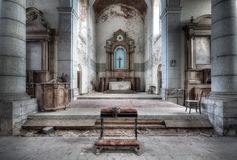 Church of Decay. An abandoned church somewhere in Belgium with a great amount of decay and details left stock images