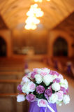 Church decorated for a wedding Stock Photography